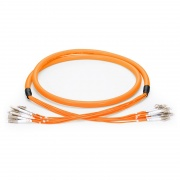 Customised 4 Fibres LC/SC/FC/ST OM1/OM2 Multimode Indoor Pre-terminated Breakout Cable