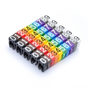 10pcs/pack Colour Numeric Cable Labels for Cat5e Lettering Style