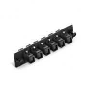 12 Fibers, 6 Ports Blackbox JPM409A-R2 Compatibale 6 MT-RJ Duplex Adapter (Black), Zirconia Ceramic