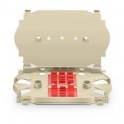 12 Fibers Fusion Splice Tray, Plastic, 0.69