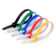 25pcs/Bag 10in.L x 0.5in.W T type Reusable Cable Ties-Colorful