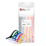 25pcs/Bag 10in.L x 0.5in.W T type Magnetic Velcro Cable Tie - Colorful