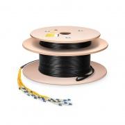 Cable breakout personalizado con 2.0mm 12 fibras ensamblaje pre-terminado para interiores/exteriores monomodo