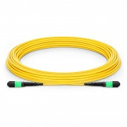 Customized 8-144 Fibers MTP®-12 OS2 Single Mode Elite Trunk Cable, Yellow