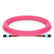 Customized 24-144 Fibers MTP®-24 OM4 Multimode Elite Trunk Cable, Magenta
