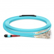 Customized 24-144 Fibers MTP?-24 OM3 Multimode Elite Breakout Cable, Aqua