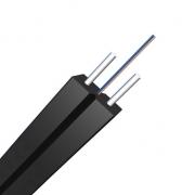 2 fibras monomodo 9/125 OS2, refuerzo KFRP, LSZH plano tipo maroposa cable de caída FTTH para interiores GJXFH