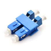 LC/UPC Female to SC/UPC Male Duplex Single Mode Plastic Fiber Optic Adapter/Mating Sleeve