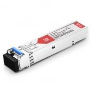 HPE H3C JD492A Compatible 100BASE-BX-U BiDi SFP 1310nm-TX/1550nm-RX 15km DOM LC SMF Transceiver Module