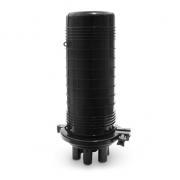 Caja de empalme de cables de fibra óptica tipo cúpula con 12 fibras, 6 puertos