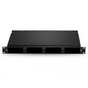 1U 96 Fibers Rack Mount FHD High Density Fiber Enclosure Unloaded, Holds up to 4x FHD Cassettes or Panels