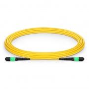 4m (13ft) MTP® Female 12 Fibres Type A LSZH OS2 9/125 Single Mode Elite Trunk Cable, Yellow