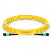 Cable Troncal de Fibra Óptica OS2 9/125 Monomodo MTP - MTP 12 Fibras tipo A, LSZH 9m - amarillo