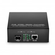 Gigabit Ethernet PoE Media Converter, 1x 10/100/1000Base-T RJ45 to 1x 1000Base-X SFP Slot, 48V 15.4W