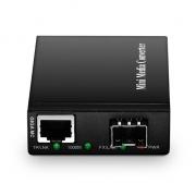 Mini Gigabit Ethernet Media Converter, 1x 1000Base-T RJ45 to 1x 1000Base-X SFP Slot