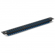 FHU 1U 19'' Fiber Adapter Panel, 48 Fibers OS2 Single Mode, 24x SC UPC Duplex (Blue) Adapter, Ceramic Sleeve
