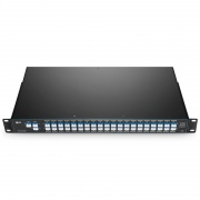40 Channels C21-C60, with 1310nm Port for 40G/100G LR4/ER4 and Monitor Port, LC/UPC, Dual Fiber DWDM Mux Demux, FMU 1U Rack Mount