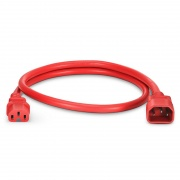 3ft (0.9m) IEC320 C14 to IEC320 C15 14AWG 250V/15A Power Cord, Red