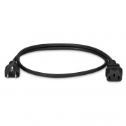 3ft (0.9m) NEMA 5-15P to IEC320 C13 18AWG 125V/10A Power Cord, Black