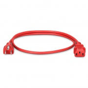 NEMA 5-15P to IEC320 C13 Power Cord, 18AWG, 125V/10A, Red-3ft (0.9m)
