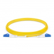 LC-LC UPC Duplex Single Mode Fibre Patch Lead 2.0mm PVC (OFNR) 2m