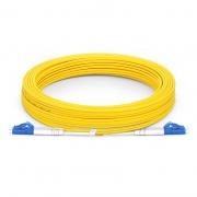 10m (33ft) LC UPC to LC UPC Duplex OS2 Single Mode PVC (OFNR) 2.0mm Fiber Optic Patch Cable