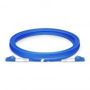 3m (10ft) LC UPC to LC UPC Duplex OS2 Single Mode Armored PVC (OFNR) 3.0mm Fiber Optic Patch Cable