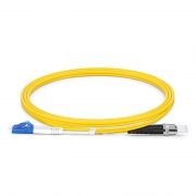 1m (3ft) LC UPC to ST UPC Duplex OS2 Single Mode PVC (OFNR) 2.0mm Fiber Optic Patch Cable