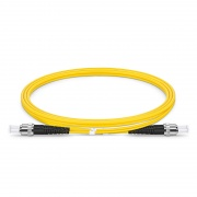 1m (3ft) ST UPC to ST UPC Duplex OS2 Single Mode PVC (OFNR) 2.0mm Fiber Optic Patch Cable