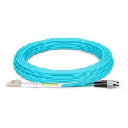 5m (16ft) LC UPC to FC UPC Duplex OM4 Multimode PVC (OFNR) 2.0mm Fiber Optic Patch Cable