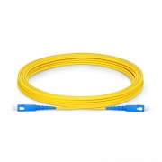 5m (16ft) SC UPC to SC UPC Simplex OS2 Single Mode PVC (OFNR) 2.0mm Fiber Optic Patch Cable