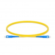 1m (3ft) SC UPC to SC UPC Simplex OS2 Single Mode PVC (OFNR) 2.0mm Fiber Optic Patch Cable