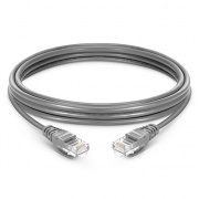 1.5m Cat5e Ethernet Patch Cable - Snagless, Unshielded (UTP) PVC, Grey