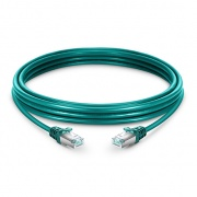 5ft (1.5m) Cat6a Snagless Shielded (SFTP) LSZH Ethernet Network Patch Cable, Green
