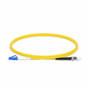 1m (3ft) LC UPC to ST UPC Simplex OS2 Single Mode PVC (OFNR) 2.0mm Fiber Optic Patch Cable