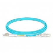 2m (7ft) LC UPC to SC UPC Duplex OM4 Multimode OFNP 2.0mm Fiber Optic Patch Cable