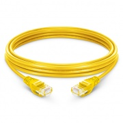 1.5m Cat6 Ethernet Patch Cable - Snagless, Unshielded (UTP) PVC, Yellow