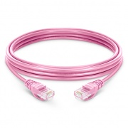5ft (1.5m) Cat6 Snagless Unshielded (UTP) PVC Ethernet Network Patch Cable, Pink