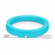 15m (49ft) LC UPC to SC UPC Duplex OM4 Multimode Armored PVC (OFNR) 3.0mm Fiber Optic Patch Cable