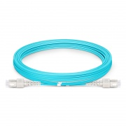 3m (10ft) SC UPC to SC UPC Duplex OM4 Multimode Armored PVC (OFNR) 3.0mm Fiber Optic Patch Cable