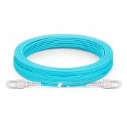 Jumper de fibra óptica 15m (49ft) SC UPC a SC UPC dúplex OM4 blindado PVC (OFNR)