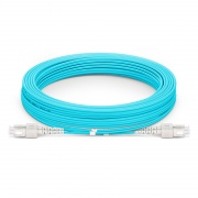 Jumper de fibra óptica 10m (33ft) SC UPC a SC UPC dúplex OM4 blindado PVC (OFNR)