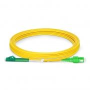 3m (10ft) LC APC to SC APC Duplex OS2 Single Mode PVC (OFNR) 2.0mm Fiber Optic Patch Cable