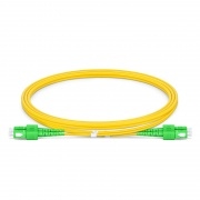 1m (3ft) SC APC to SC APC Duplex OS2 Single Mode PVC (OFNR) 2.0mm Fiber Optic Patch Cable