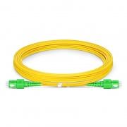 3m (10ft) SC APC to SC APC Duplex OS2 Single Mode PVC (OFNR) 2.0mm Fiber Optic Patch Cable