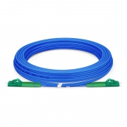 Jumper de fibra óptica 5m (16ft) LC APC a LC APC dúplex monomodo blindado PVC (OFNR)