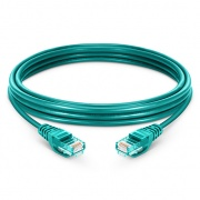 1.5m Cat5e Ethernet Patch Cable - Snagless, Unshielded (UTP) PVC, Green