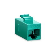 Cat6 8P8C Unshielded RJ45 Coupler Keystone Insert Module - Green