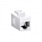 Cat6 8P8C Unshielded RJ45 Coupler Keystone Insert Module - White