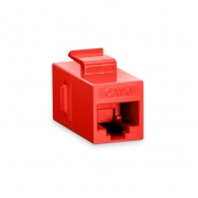 Cat6 8P8C Unshielded RJ45 Coupler Keystone Insert Module - Red